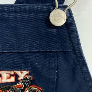 Harley-Davidson Bottoms - Harley-Davidson | Blue Denim Embroidered Overalls
